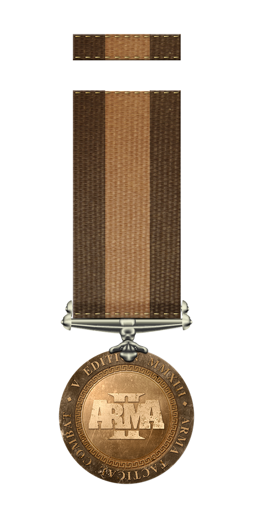 Participation medal and ribbon