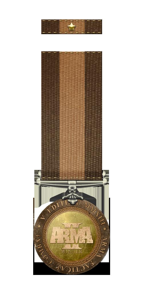 Winner side (BLUFOR): medal and ribbon
